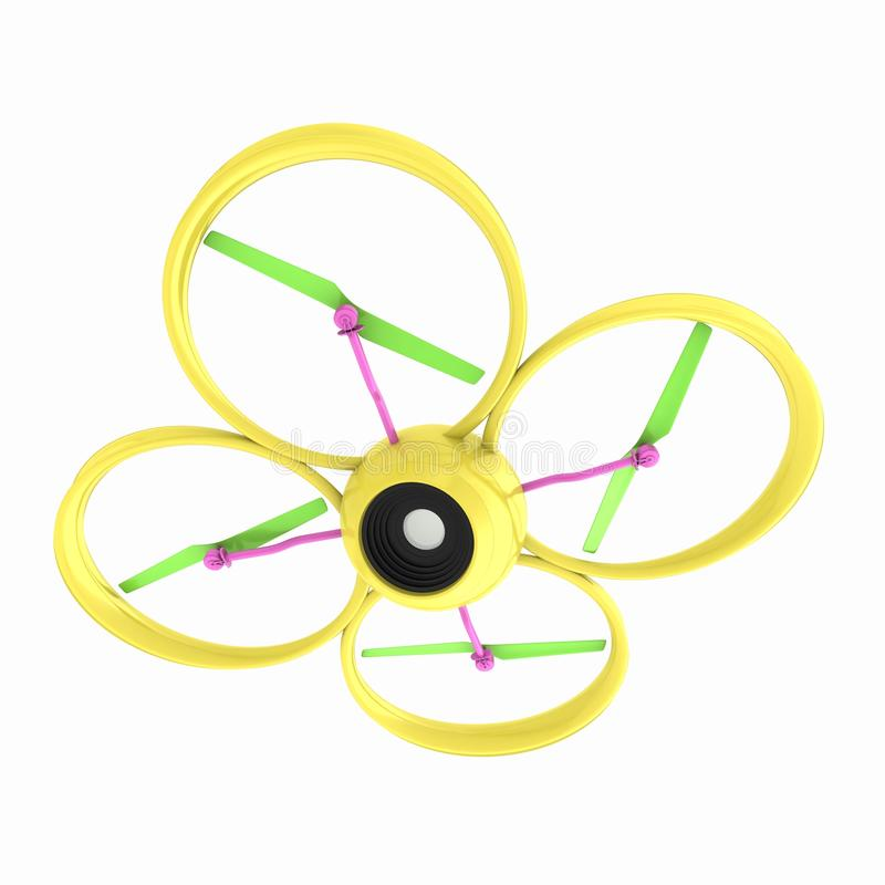 The Quadcopter Dron. 3d render vector illustration