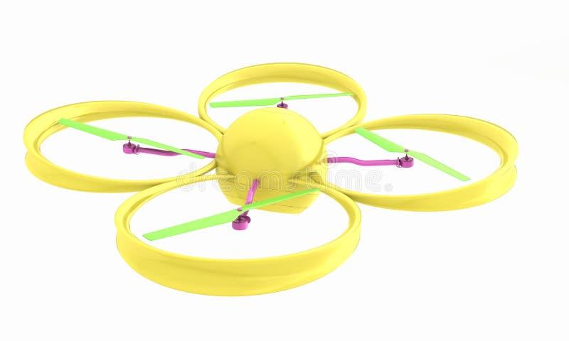 Quadcopter Dron. 3d render. The Quadcopter Dron. 3d render vector illustration