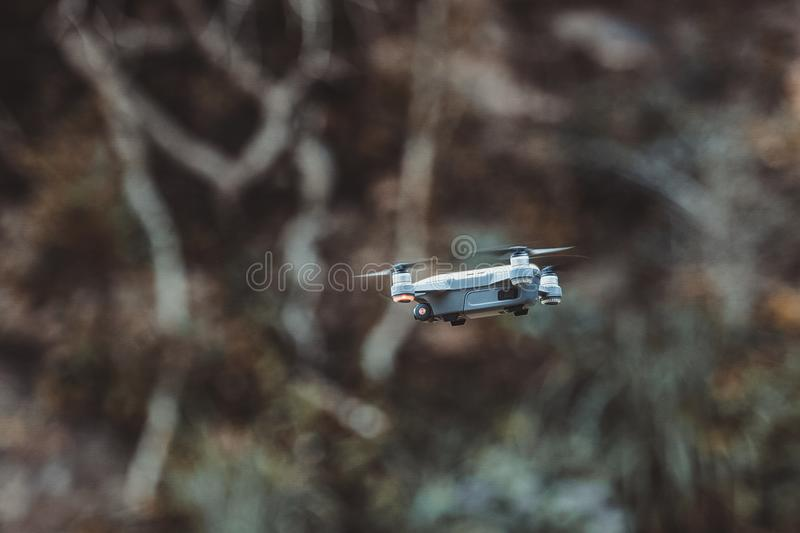 Quadcopter Drone Flying royalty free stock photography