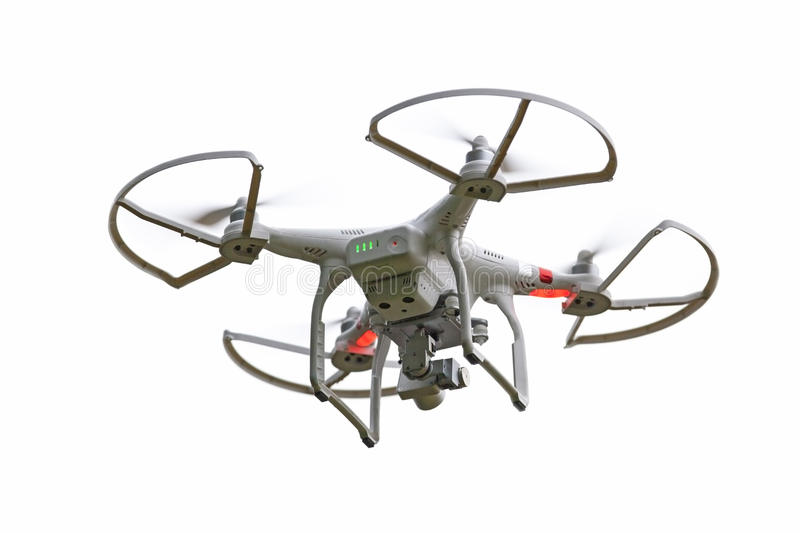Quadcopter Drone. Isolated on a white background royalty free stock images
