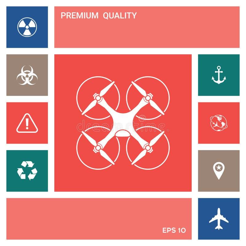 Quadcopter, latająca truteń ikona elementy projektów galerii ikony widzą odwiedzić twój więcej moich piktogramy proszę royalty ilustracja