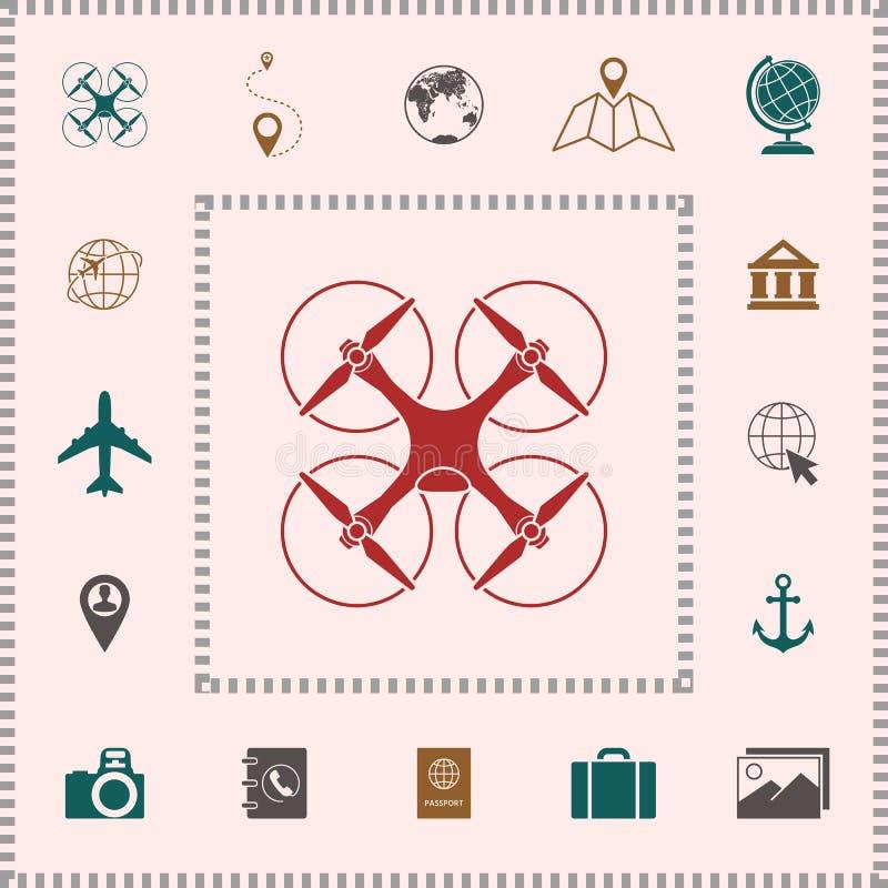 Quadcopter, latająca truteń ikona elementy projektów galerii ikony widzą odwiedzić twój więcej moich piktogramy proszę ilustracja wektor