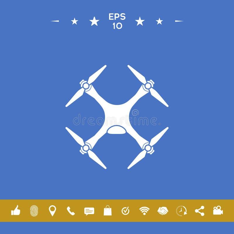 Quadcopter, truteń ikona ilustracja wektor