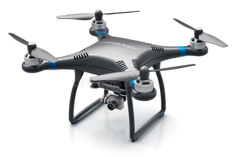 Quadcopterhommel met 4K video en fotocamera royalty-vrije illustratie