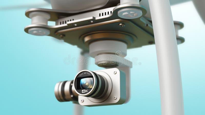 Quadcopterhommel met 4K videocamera stock illustratie