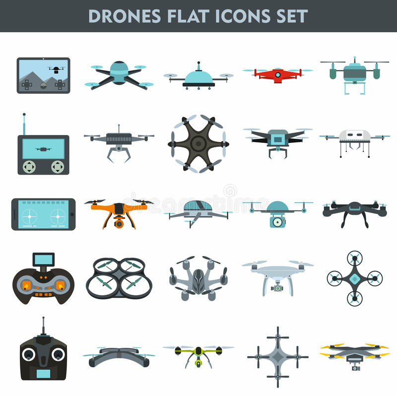 Quadcopters en vlakke apparaten 25 van de van het hommelstoezicht en levering