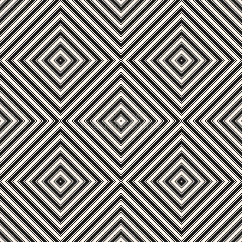 Quadra il reticolo senza giunte Linee a strisce struttura di vettore semplice royalty illustrazione gratis