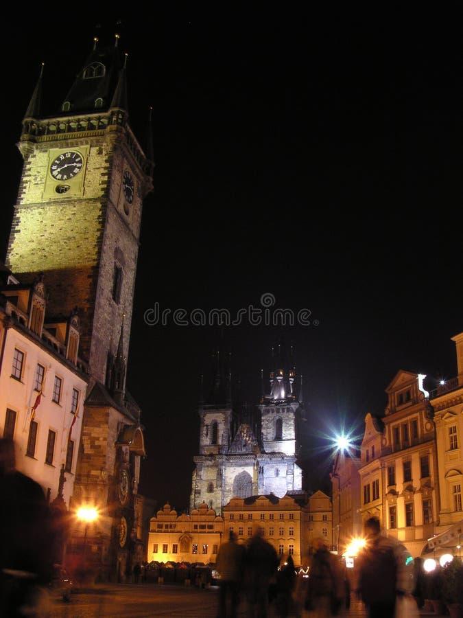 Quadrado 2 de Praga (república checa) fotos de stock royalty free