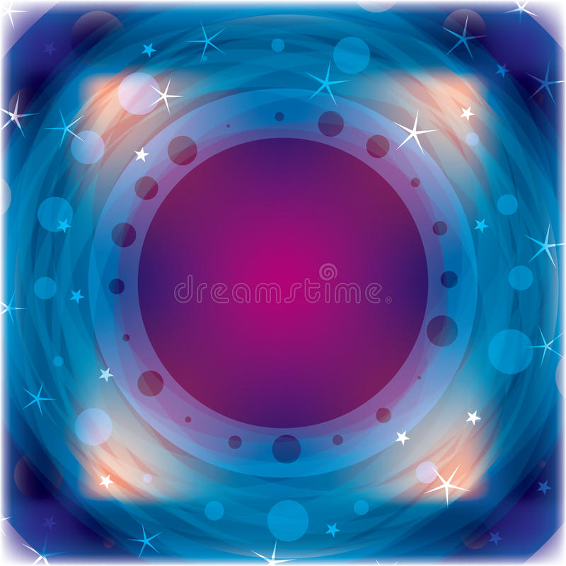 Quadrado abstrato do círculo ilustração stock