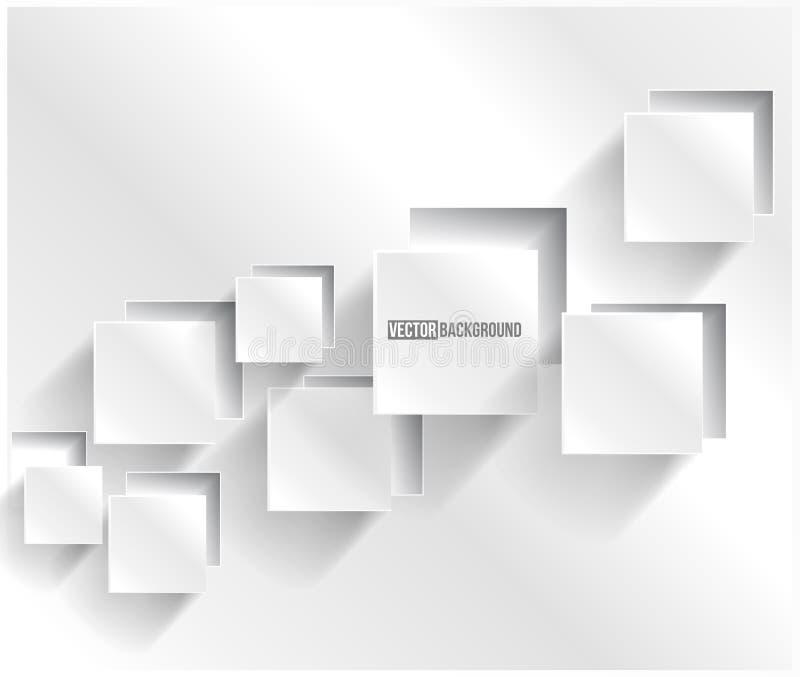 Quadrado abstrato do fundo do vetor. Design web ilustração stock