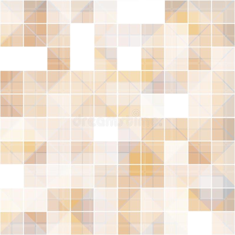 Quadrado abstrato no fundo sobreposto, marrom do tom ilustração royalty free