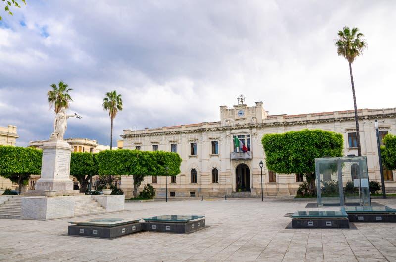 Quadrado Archeologic Reggio Di Calabria de Italia da praça de Ipogea da área, foto de stock