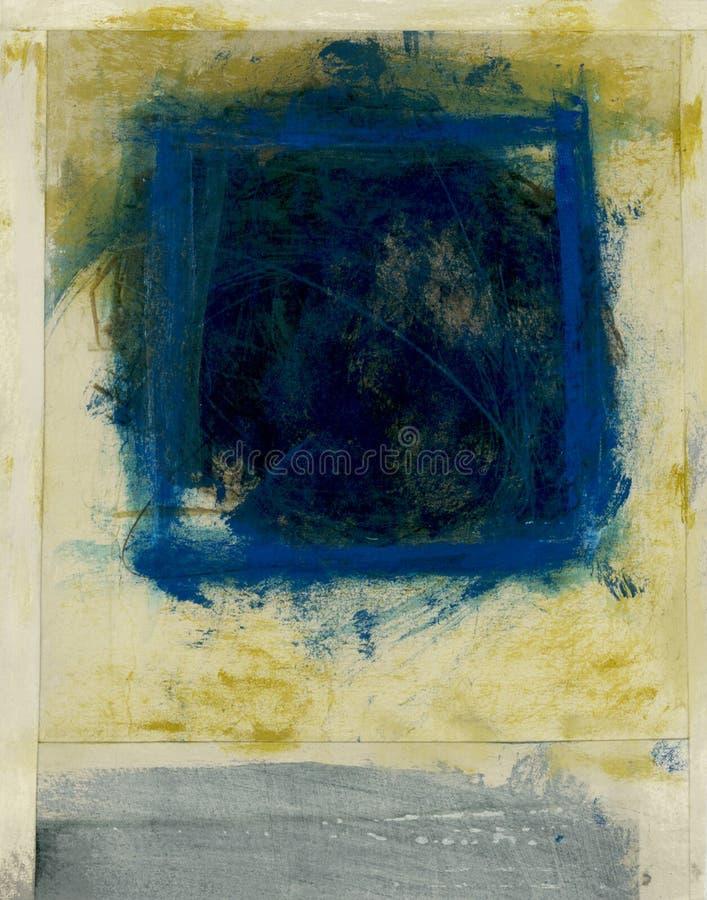 Quadrado azul abstrato fotos de stock