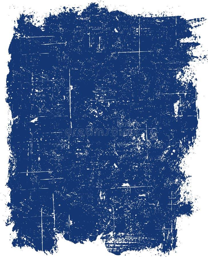 Quadrado azul de Grunge ilustração royalty free
