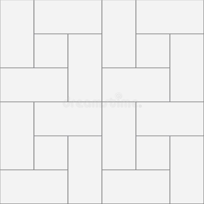 Quadrado branco e telhas retangulares ilustração royalty free