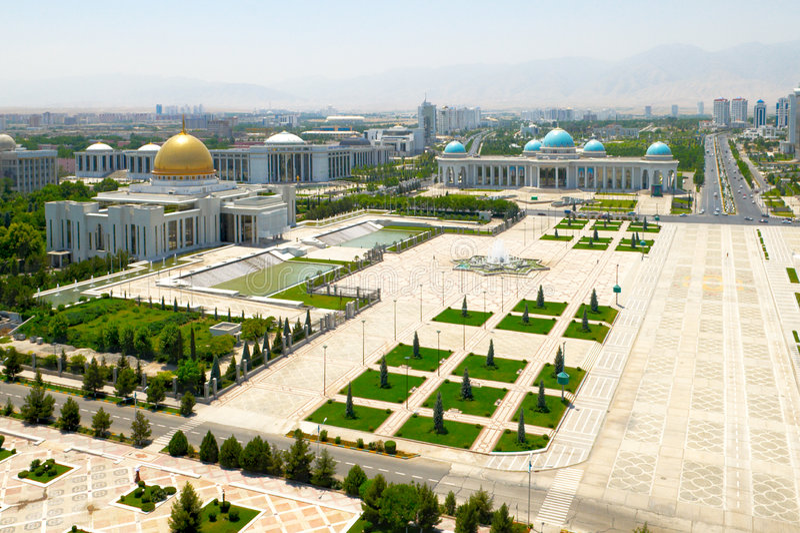 Quadrado central de Ashgabat fotos de stock royalty free