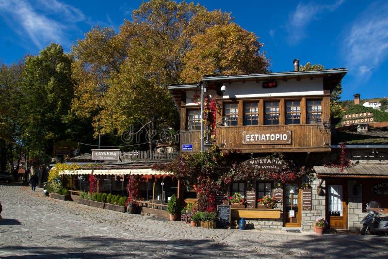 Quadrado central de Metsovo, Epirus fotos de stock