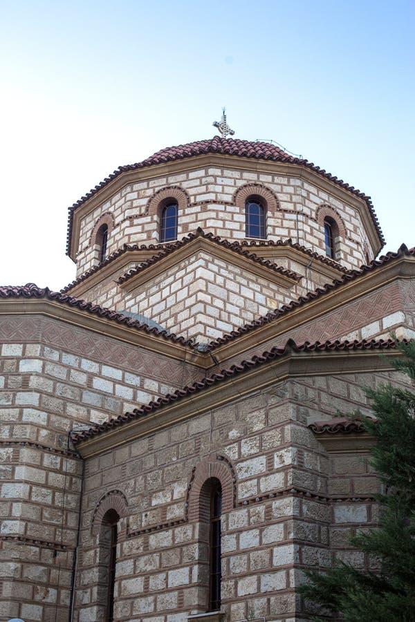 Quadrado central em Argos, Grécia Ideia do quadrado de Saint Andrew Agios Andreas, o quadrado principal da cidade de Argos, Pelop imagem de stock royalty free