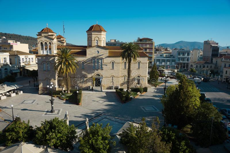Quadrado central em Argos, Grécia imagem de stock royalty free