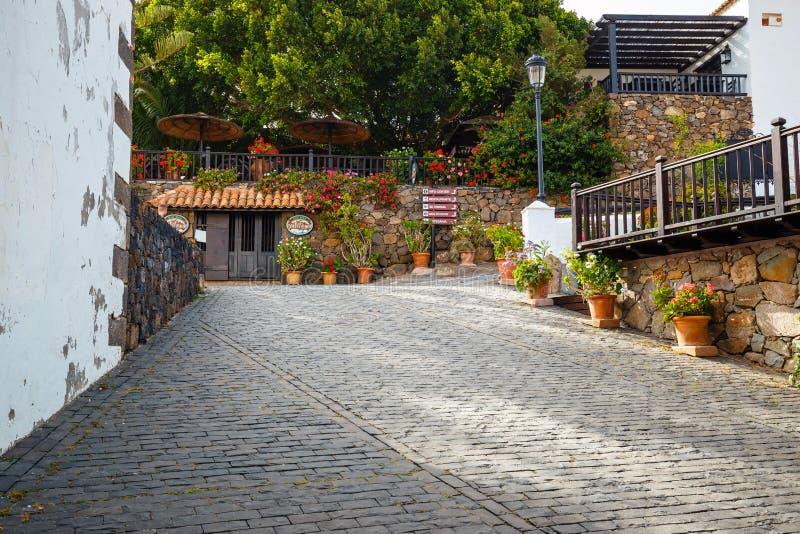 Quadrado central em Betancuria, Fuerteventura fotografia de stock
