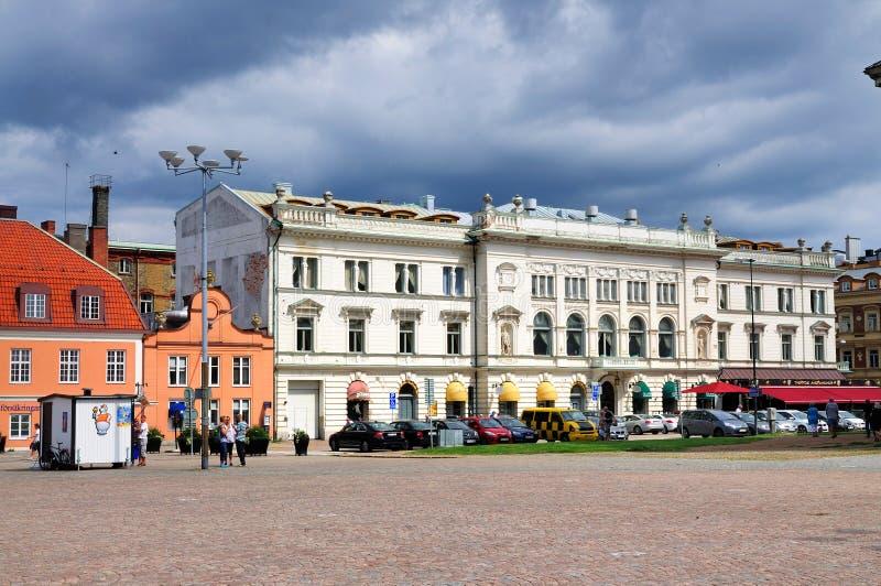 Quadrado central, Karlskrona imagem de stock