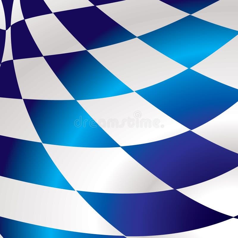 Quadrado checkered azul ilustração royalty free