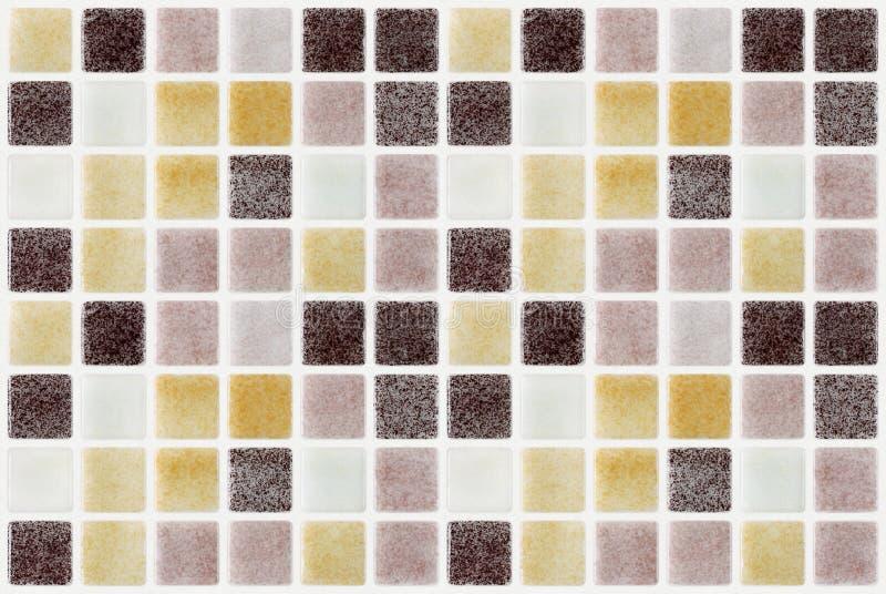 Quadrado colorido do mosaico telhas de mármore foto de stock