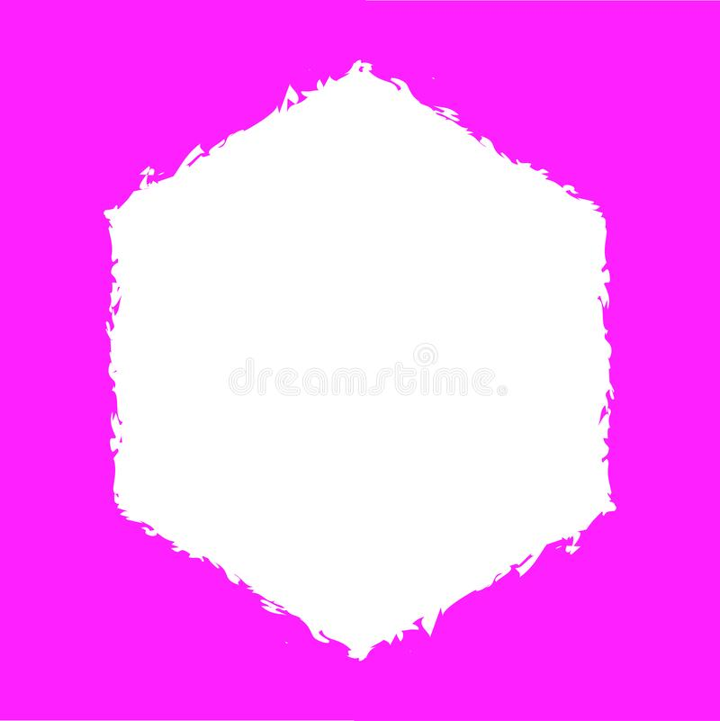 Quadrado cor-de-rosa Backround ilustração stock
