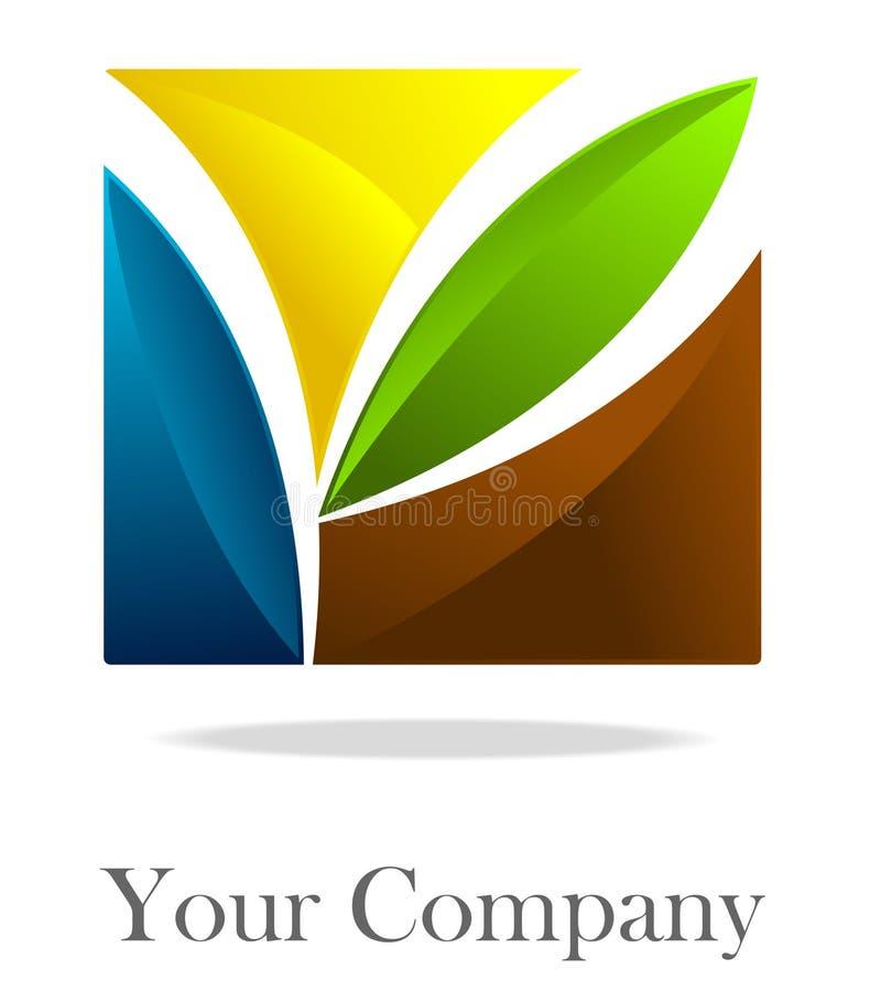 Quadrado corporativo do logotipo ilustração royalty free