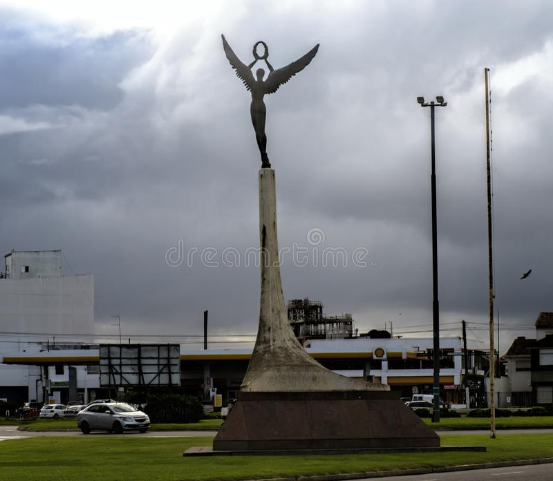 Quadrado da constituição, Mar del Plata, Argentina imagens de stock royalty free