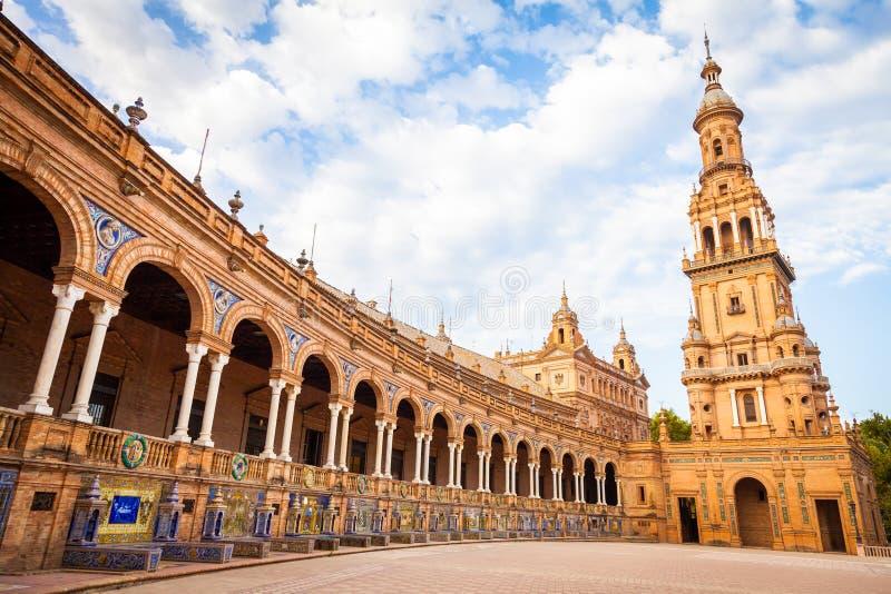 Quadrado da Espanha de Sevilha imagens de stock royalty free