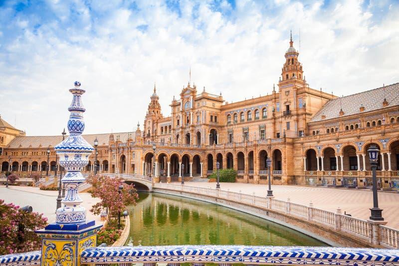 Quadrado da Espanha de Sevilha fotos de stock royalty free
