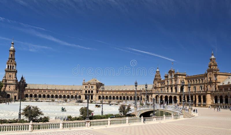 Quadrado da Espanha de Sevilha imagem de stock