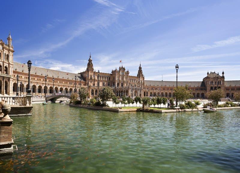 Quadrado da Espanha de Sevilha fotos de stock