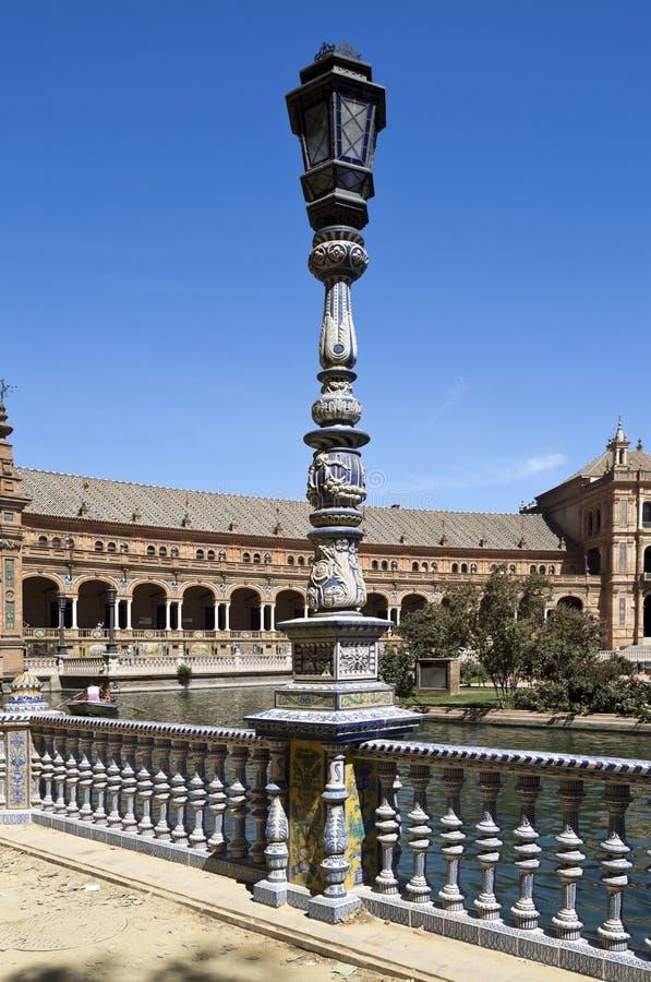 Quadrado da Espanha de Sevilha foto de stock royalty free