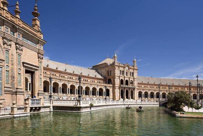 Quadrado da Espanha de Sevilha fotografia de stock royalty free