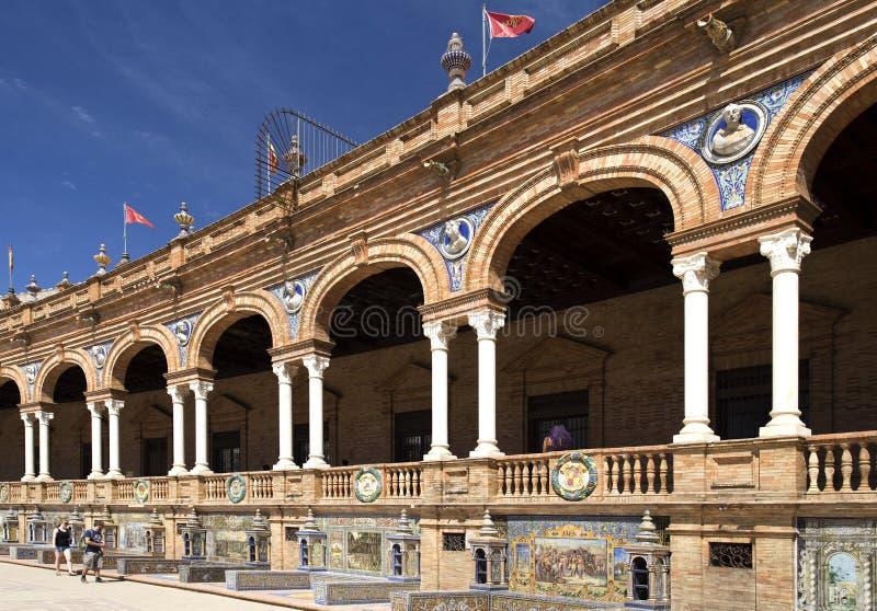 Quadrado da Espanha de Sevilha imagem de stock royalty free
