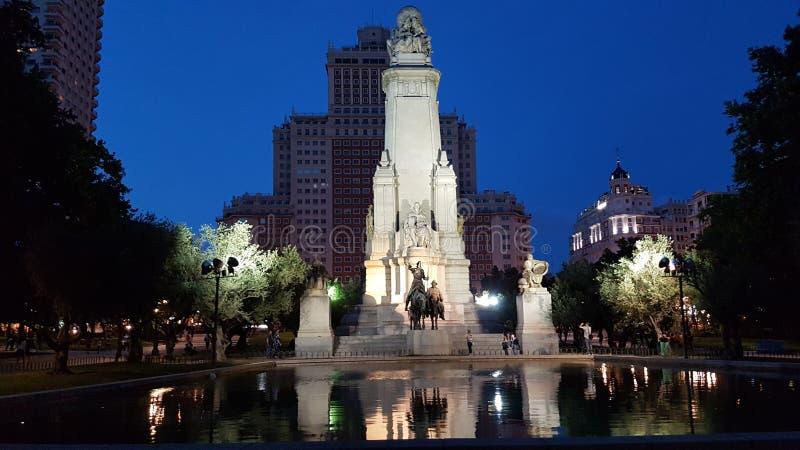 Quadrado da Espanha do Madri fotos de stock royalty free