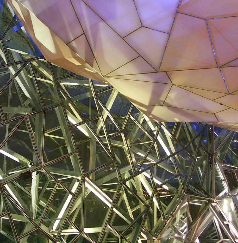 Quadrado da federação, Melbourne foto de stock