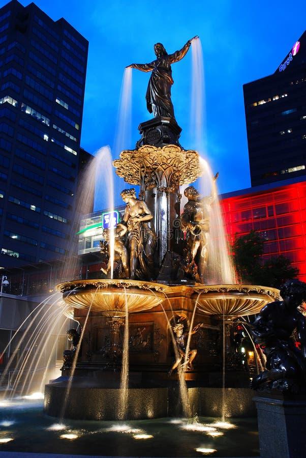 Quadrado da fonte, Cincinnati imagem de stock royalty free