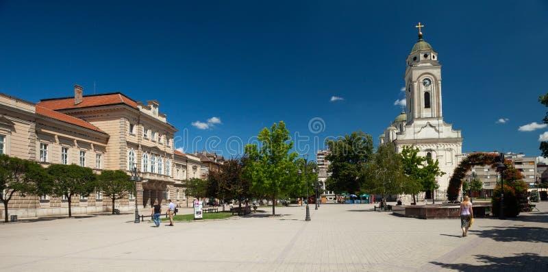 Quadrado da república, Smederevo fotografia de stock