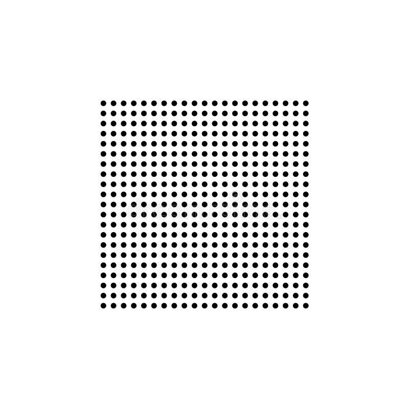 Quadrado da textura do vetor dos círculos Fundo de intervalo m?nimo do vetor Fundo preto e branco Vetor quadrado da textura ilustração do vetor