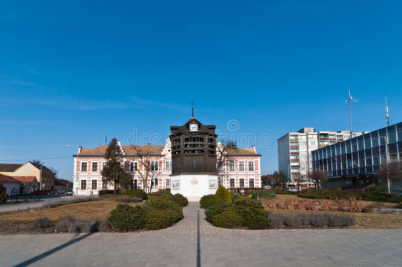 Quadrado da torre de sino velha imagens de stock royalty free