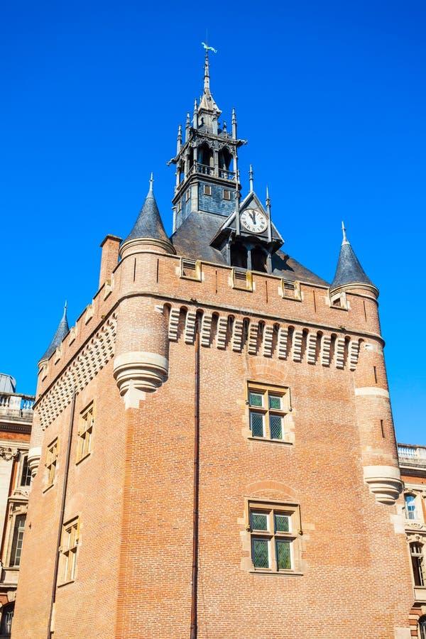 Quadrado da torre do Dungeon de Capitole, Toulouse imagens de stock