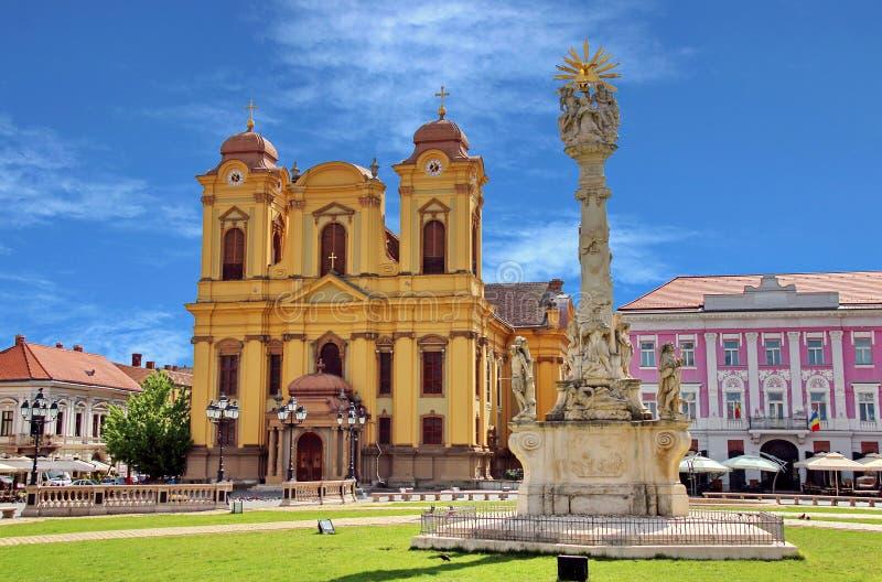 Quadrado 02 da união, Timisoara, Romania foto de stock