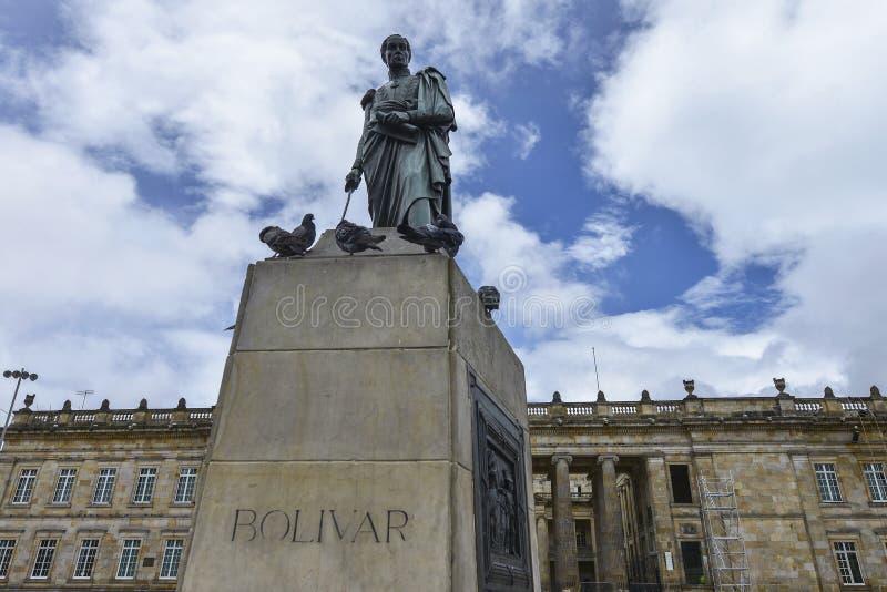 Quadrado de Bolivar em Bogotá, Colômbia foto de stock