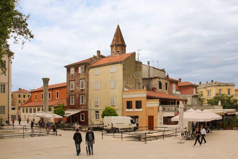 Quadrado de Bunara do animal de estimação Zadar Croácia foto de stock