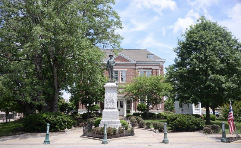 Quadrado de cidade de Covington Tennesse imagens de stock