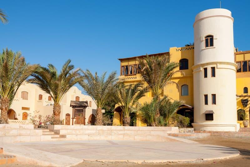 Quadrado de cidade. EL Gouna, Egito imagens de stock
