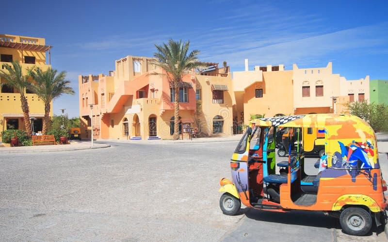 Quadrado de cidade em EL-Gouna imagem de stock royalty free